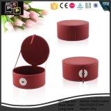 中国の製造業者のカスタム豪華な丸型の赤いカラー化粧品ボックス