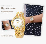 Batteria su ordinazione dell'orologio Accell/377A delle donne delle vigilanze dell'OEM dell'orologio delle signore delle donne del diamante di Belbi del Giappone Movt di marchio occidentale dell'acciaio inossidabile