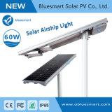 60W LED de energía solar Alumbrado público exterior con sensor de movimiento