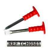 Плоское каменное кузнечное зубило для рубки в холодном состоянии с резиновый сжатием ручки (TCH0502)