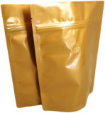 Изготовленный на заказ напечатанный пластмассой верхний мешок кофеего алюминиевой фольги ранга с клапаном