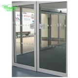 Puerta corrediza de aluminio con doble vidrio