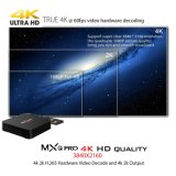 Mxq WiFiの4K 1080P HDのサポートのプロAndroid7.1.2 Amlogics905X 2GB RAM/16GB ROM TVボックス十分に付サテライトレシーバIPTVボックス