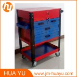 26-Inch Sheet Metal Professional 6 Drawer Rolling Tool Cabinet, Blue/Red Powder Coated Garage Tool Cart