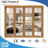 Fabricante insonoro de las puertas de plegamiento del hierro de entrada principal de puertas del diseño de aluminio de la parrilla
