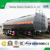 Rimorchio del serbatoio del trasporto del bitume/asfalto dei 3 assi con il coperchio di conservazione di calore