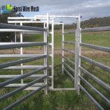 6개의 가로장 휴대용 타원형 가축 야드 위원회