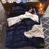 Чисто комплект постельных принадлежностей ватки фланели полиэфира высокого качества цвета