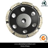 5 Polegada 125mm segmentos Turbo Cup rebolo de granito e mármore//concreto