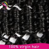 Tecelagem humana do cabelo do Virgin do preço de fábrica da onda profunda brasileira