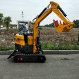 Piccolo escavatore idraulico del cingolo da 1 tonnellata