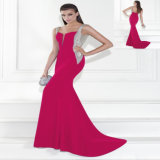 Fucsia Crystal Mermaid Party Dress vestido de noche