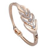 Nuovo braccialetto del cerchio del diamante dell'oro della Rosa di disegno