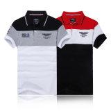 Chemise de polo de chemise de contraste des hommes courts de piste