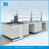 Mikrobiologischer Stahl-und Holz-Laborinsel-Stahlprüftisch