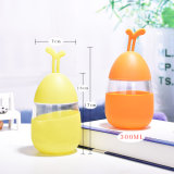 Schöne Ei-Wasser-Flasche mit Silikon-Hülse für Geschenk