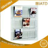 Beweglicher Acrylkatalog-Regal-Zeitschriften-Bildschirmanzeige-Zahnstangen-Standplatz-Broschüre-Halter