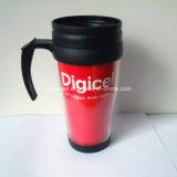 Diseño personalizado barata de plástico de pared doble taza de viaje