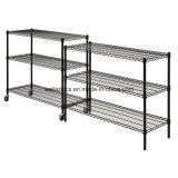 NSF Multifonction réglable Epoxy Metal Wire Display Shelving Unit