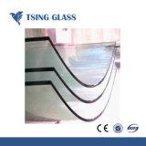 8/10/12mm Le verre trempé clair avec les trous/bords polis pour escaliers/clôture/Porte de douche