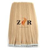 El color de luz doble llamado unión de cinta de pelo en el Hair Extension