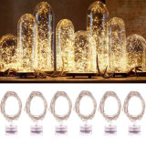 Im Freienweihnachts-/des Partei-/Hochzeits-kupfernen Draht-feenhafte batteriebetriebene LED Zeichenkette-Lichter