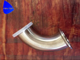 衛生通された斜めのシート90度の肘のステンレス鋼