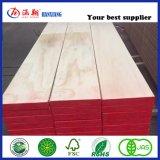 El uso de la construcción Pino/Andamios tablones de madera vigas LVL