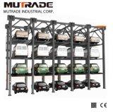 Mutrade 3/4 de elevador do estacionamento do empilhador do borne dos níveis quatro