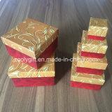 La impresión de papel de anidación personalizados de verificación Establecer de forma cuadrada cajas de regalo