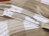 La verificación 100% del algodón imprimió conjuntos de la cubierta del Duvet de 3 pedazos