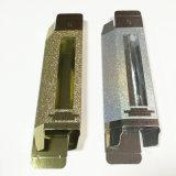 La una sola pieza de encargo diseñó el rectángulo de empaquetado brillante del papel de oro/de plata