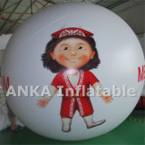 Inflable cara de la muchacha Esfera Globo Precio Made in China