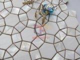 丸型はしぶき(CFP141)のためのMarbleそしてシェルのモザイク・タイルによって結合した