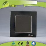 Il nero standard dell'Ue certificato Ce/TUV/BV che tempera l'interruttore della parete di vetro