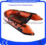 PVC/Hypalon透過パソコン材料が付いている膨脹可能な釣漕艇