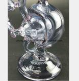 Purpurrotes Glaswasser-Rohr Filter-Tabak Pfeife aufbereitend