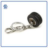 Metal de gama alta Keychain del regalo de la promoción con el mini neumático