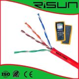 Cabo interno UTP Cat5e da rede do twisted pair Unshielded 4p