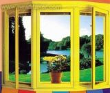 Puerta de ventana de perfil de PVC de color 3, 4 de soldadura de cabeza sin soldadura
