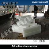 Máquina de gelo do bloco do sistema da salmoura de Focusun