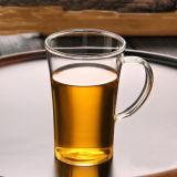 Taza de café de vidrio sin plomo taza de té de vidrio de borosilicato con asa