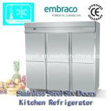 Edelstahl-Küche-Kühlraum mit sechs Türen