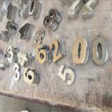ホテルの部屋のドア304のヘアラインカラーステンレス鋼の文字のアラビア数字
