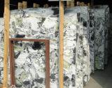 昇進の新しい普及したエメラルドの氷のヒスイ緑の自然な石造りの平板の大理石
