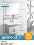 Vaidade moderna do banheiro do aço inoxidável do gabinete do lado do banheiro com pés