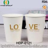 Sola pared caliente taza de papel del café express con tamaño modificado (HDP-0121)