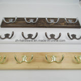 High-Grade beaux vêtements Le crochet en métal et bois Conseil crochet (ZH-7003)