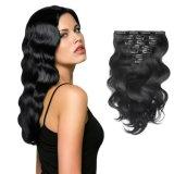 La onda de cuerpo cabello Clip Hair Extension (AV-CH70-14-1)