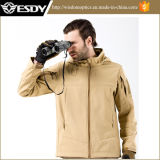 Tan Color Outdoor Tactical impermeável Hoodie Casacos revestimento exterior